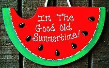 Watermelon Summertime Sign Deck Patio Seasonal Pool Tiki Wall Backyard Plaque