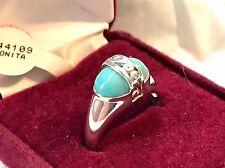 Premier Designs BONITA Genuine Turquoise Sterling Silver Ring SZ 9 With Box