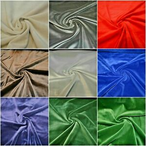 100% Cotton Velvet Fabric Costume Dressmaking Eveningwear 7 Colours Regular
