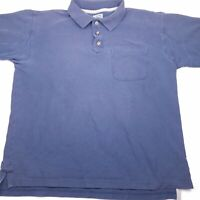 Duluth Trading Company Men's short sleeve polo shirt navy blue size medium X15
