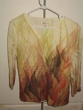 "NWOT Coldwater Creek ""Desert Border"" Knit Top - Size XS (4)"