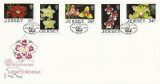 (36319) GB Jersey FDC Orchids 1988