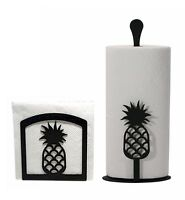 Napkin Holder and Paper Towel holder set with the Pineapple design - NEW