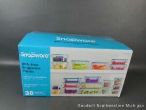Snapware Plastic Food Storage Set, 38 Pieces Open Box