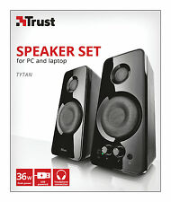 NEW TRUST 21560 TYTAN 2.0 36W USB POWERED SPEAKER SET (USB-MAINS ADAPTERS AVAIL)