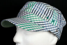 New Era EK Ace Military Khaki Army Cap Blue Gray Green Plaid Hat - Size Medium