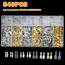 540Pcs 2.8/4.8/6.3mm Wire Connectors Kit Crimp Female/Male Spade Terminals Set