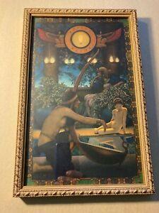 1922 Maxfield Parrish Egypt Edison Mazda Calendar Top. Beautiful Colors !