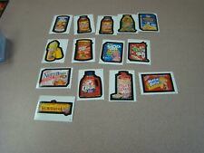 14  Vintage  Wacky Packages Topps Chewing Gum Inc Trading Stickers Lot
