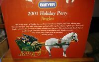 Jingles  Breyer 2001 Holiday Pony Christmas horse sleigh LN in box