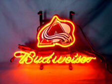 "New NHL Colorado Avalanche Hockey Budweiser Bar Neon Light Sign 24""x20"""