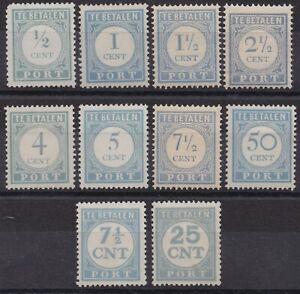 Netherlands lot mint postage due stamps