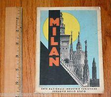 1933 - XI MILAN Italy E.N.I.T PIANTA Di MILANO Full MAP Ferrovie Dello Stato