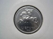 Litauen, Lietuva 1 Centas 1991  (209)