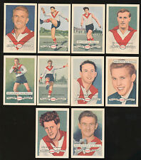 1958 Atlantic Petrol South Melbourne Team Set 10 Cards Picture Pageant Card