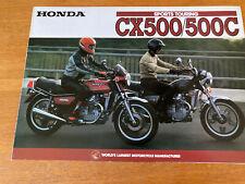 Vintage motorcycle brochure HONDA CX500 CX500C classic restoration parts project