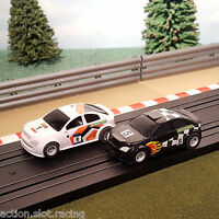 Micro Scalextric Pair 1:64 Cars - My First Scalextric Rally Black #5 & White #1