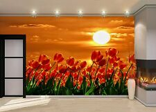 Red Tulips  Wall Mural Photo Wallpaper GIANT DECOR Paper Poster Free Paste
