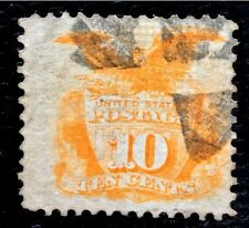 1869 US Stamps SC#116 10c Shield and Eagle Fresh Used CV:$125