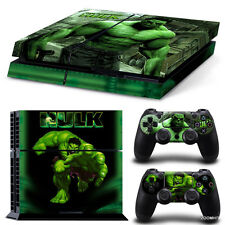 PS4 Playstation 4 Console Skin Decal Sticker Hulk Comics + 2 Controller Skins