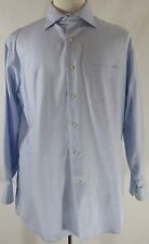 TOMMY BAHAMA Men's Dress Shirt Sz LARGE 16.5 32/33 Long Sleeve Light Blue Cotton