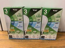 TW Lighting A19 3 Way. 4W, 8W, 14W LED Light Bulb 2700k Pack of 3 Bulbs New