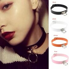 Punk Gothic Necklace Choker Pendant Leather Chain Neck Ring