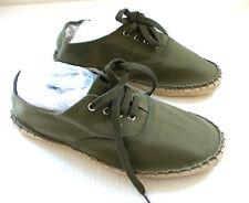 Ladies 'The Shoe Tailor'  Lace  Girls  Espadrille E Fit Flats - Khaki - Size 3