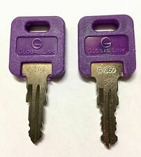 1 Pair (2 keys) Global Link Precut Keys G301 - G391 RV Trailer Camper Keys