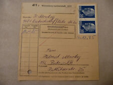 """DDR Paketkarte MEF 50 Pfg Ulbricht Poststelle """"4601 Dietrichsdorf 29 Wittenberg"""""""