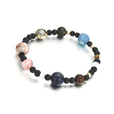 Weave Bracelet Galaxy Solar System Eight Planets Theme Natural Stone Beads Hot