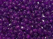 Dk Amethyst Sparkle Heart shaped Pony Beads made USA kids valentines day crafts