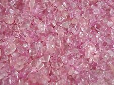Crystal Glass Chips 100g Loose Asst Pinks 400pcs Bead Jewellery FREE POSTAGE