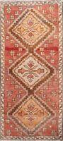 Geometric Authentic Oushak Traditional Turkish Area Rug Hand-knotted 1x3 Carpet