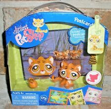 Littlest Pet Shop POST CARD PETS LEOPARD, tiger VHTF 2008 tiger mouse toy