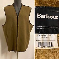 Barbour Fleece Warm Pile Popper Liner A297 For Wax Cotton Bedale Beaufort C46 01