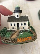 1X Lighthouse March Month Calendar Figurines Danbury Mint