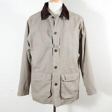 Cabela's Safari Jacket 100% Cotton 8 Pocket Field Chore Coat Lined Men's M REG