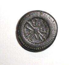 Ancient Greek Empire, 3rd. c. BC. Bronze coin. Helmet, Wheel