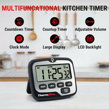 ThermoPro Digital LCD Kitchen Cooking Timer Touch Backlight Count-Down Up Alarm