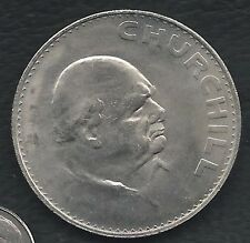 1965 UK Crown Commemorative Coin- Winston Churchill. ONE COIN (2 sides)