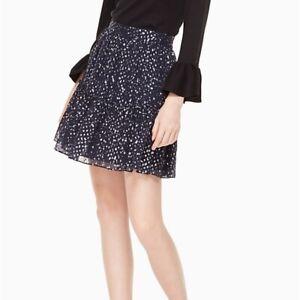 NWT Kate Spade night sky dot skirt flounce navy 10