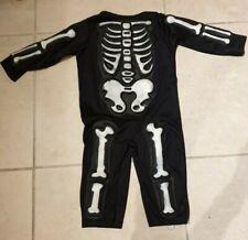 Halloween Skeleton costume kids 3yrs