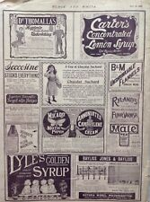 Lyle's Golden Syrup, Carter's Lemon Syrup,  1898 Antique Advert  Original