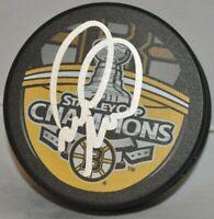Mark Recchi Autographed 2011 Boston Bruins Stanley Cup Champions Hockey Puck COA
