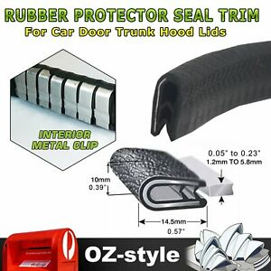 2M Pinch Weld Rubber Seal Trim Metal Clips Cars Door Hood Trunk Edge Protection