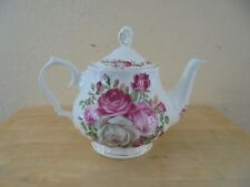 Vintage Fine Bone China Rose Teapot