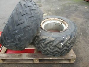 2 x used 31 x 15.5 - 15 flotation tyres with rims