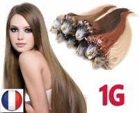 25,50,75,100 EXTENSION DE CHEVEUX POSE A FROID EASY LOOP NATUREL REMY 53CM 1G 3A