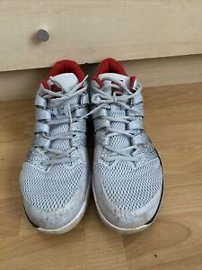 Mens Grey/white NIKE AIR ZOOM VAPOR X HC Tennis Shoes Used Size 14